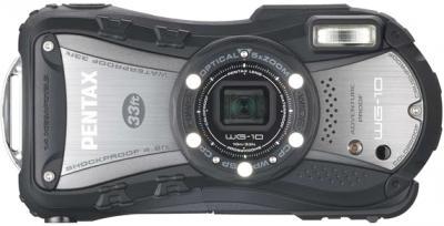 Компактный фотоаппарат Pentax WG-10 Black - вид спереди