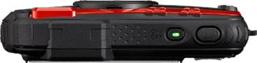 Компактный фотоаппарат Pentax WG-10 Black-Red - вид сверху
