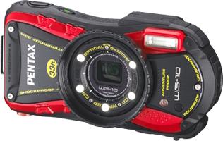 Компактный фотоаппарат Pentax WG-10 Black-Red - общий вид
