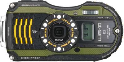 Компактный фотоаппарат Pentax WG-3 GPS Green-Black - общий вид