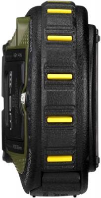 Компактный фотоаппарат Pentax WG-3 GPS Green-Black - вид сбоку