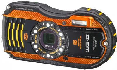 Компактный фотоаппарат Pentax WG-3 Black-Orange - общий вид