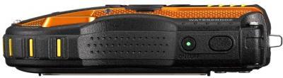Компактный фотоаппарат Pentax WG-3 Black-Orange - вид сверху