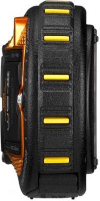 Компактный фотоаппарат Pentax WG-3 Black-Orange - вид сбоку