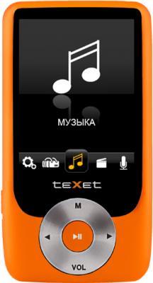 MP3-плеер TeXet T-795 (4GB) Orange - вид спереди