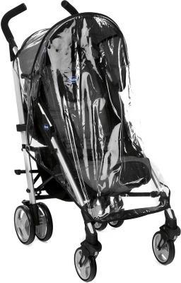 Детская прогулочная коляска Chicco Lite Way Complete (Black Night) - дождевик