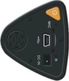 Автомобильный видеорегистратор Ritmix AVR-710TS - вид сбоку