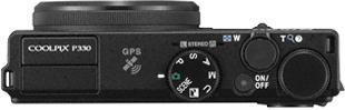 Компактный фотоаппарат Nikon Coolpix P330 Black - вид сверху