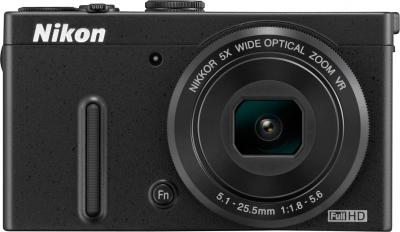Компактный фотоаппарат Nikon Coolpix P330 Black - вид спереди