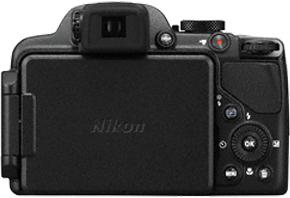 Компактный фотоаппарат Nikon Coolpix P520 Black - вид сзади