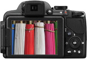 Компактный фотоаппарат Nikon Coolpix P520 Black - жк-экран