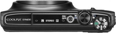 Компактный фотоаппарат Nikon Coolpix S9400 Black - вид сверху
