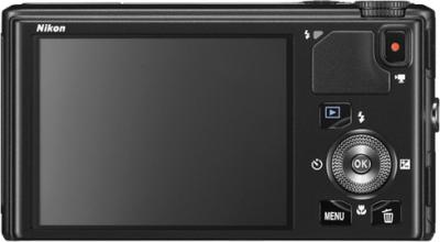 Компактный фотоаппарат Nikon Coolpix S9400 Black - вид сзади