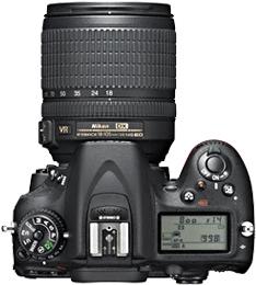 Зеркальный фотоаппарат Nikon D7100 Kit 18-105mm - вид сверху