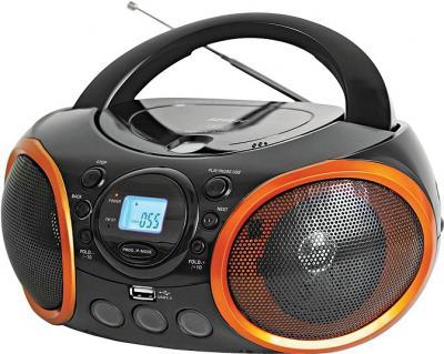 Магнитола BBK BX100U Black-Orange - общий вид