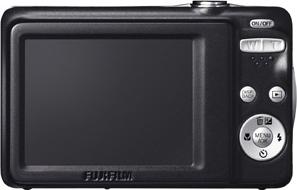 Компактный фотоаппарат Fujifilm FinePix JV500 White - вид сзади