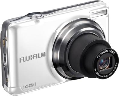 Компактный фотоаппарат Fujifilm FinePix JV500 White - общий вид