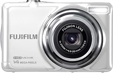 Компактный фотоаппарат Fujifilm FinePix JV500 White - вид спереди