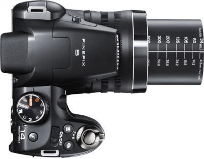 Компактный фотоаппарат Fujifilm FinePix S4300 Black - вид сверху