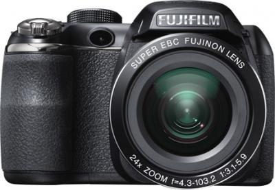 Компактный фотоаппарат Fujifilm FinePix S4300 Black - вид спереди