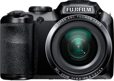Компактный фотоаппарат Fujifilm FinePix S4800 Black - вид спереди