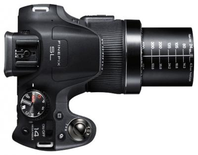 Компактный фотоаппарат Fujifilm FinePix SL310 Black - вид сверху