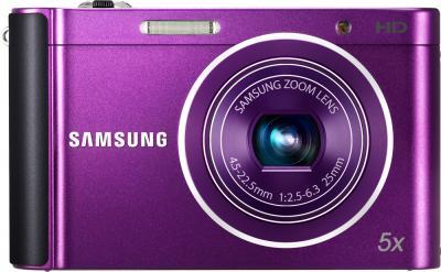 Компактный фотоаппарат Samsung ST88 Purple (EC-ST88ZZFPLRU) - вид спереди