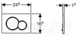 Кнопка для инсталляции Geberit Sigma 01 (115.770.KA.5)