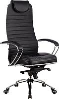 Кресло офисное Metta Samurai KL1 (черный, кожа) -