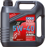 Моторное масло Liqui Moly Motorbike 4T Synth 5W-40 Street Race (4л) -