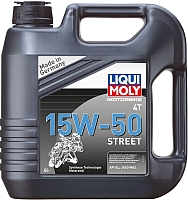 Моторное масло Liqui Moly Motorbike 4T Street 15W50 (4л) -