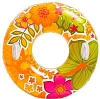 Круг для плавания Intex Прозрачный 58263 (цветы) -