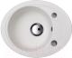 Мойка кухонная Kuppersberg Capri 1B1D S (белый алебастр) -