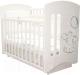 Детская кроватка Laluca Софи Премиум (белый/слоник) -