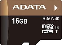 Карта памяти A-data Premier Pro microSDHC UHS-I U1 16GB (AUSDH16GUI1-R) -