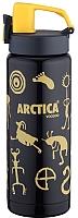 Термокружка Арктика 702-600W (черный/желтый) -
