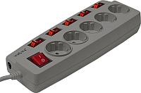 Сетевой фильтр Sven Surge Protector Platinum 1.8 (серый, 5 розеток) -