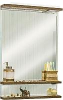 Зеркало для ванной Sanflor Румба 60 / Rm.02.60 (венге патина золото) -