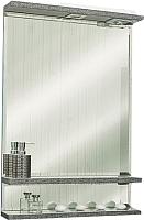 Зеркало для ванной Sanflor Румба 60 / Rm.02.60 (венге патина серебро) -