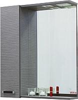 Шкаф с зеркалом для ванной Sanflor Торонто 60 L / Tor.02.60 (венге/орфео серый) -