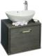 Тумба с умывальником Sanflor Румба 60 / Rm.01.60 (венге патина серебро) -