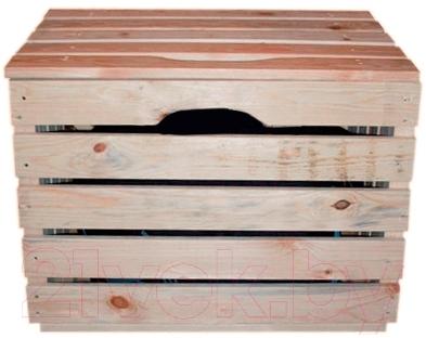 Ящик для хранения ВудГрупп 50x35x35 (с крышкой)