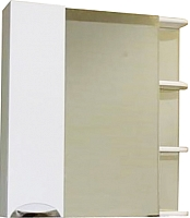 Шкаф с зеркалом для ванной СанитаМебель Камелия-12.80 Д3 (левый, белый) -