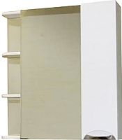 Шкаф с зеркалом для ванной СанитаМебель Камелия-12.80 Д3 (правый, белый) -