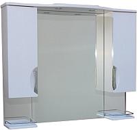Шкаф с зеркалом для ванной СанитаМебель Камелия-14.45 Д3 (белый) -