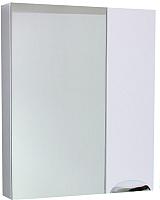 Шкаф с зеркалом для ванной СанитаМебель Эмили 102.650 (белый, правый) -