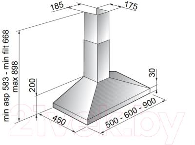 Вытяжка купольная Zigmund & Shtain K 129.51 S
