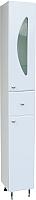 Шкаф-пенал для ванной СанитаМебель Камелия-53в Д5 (белый, правый) -