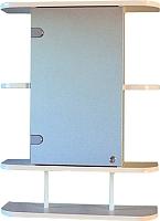 Шкаф с зеркалом для ванной СанитаМебель Камелия-03.54п (левый, белый) -