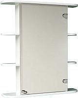 Шкаф с зеркалом для ванной СанитаМебель Камелия-04.65 (правый, белый) -